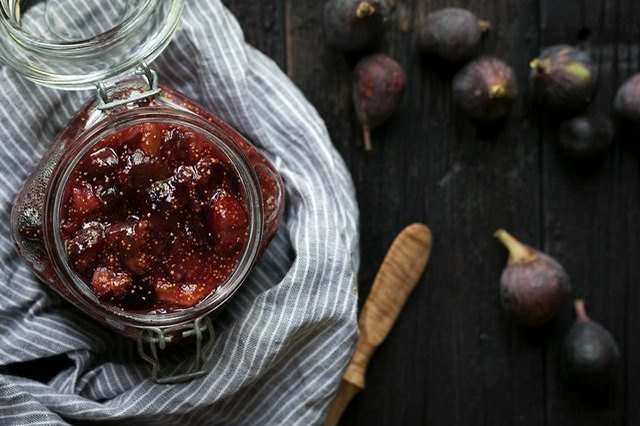 Homemade fig jam for fall