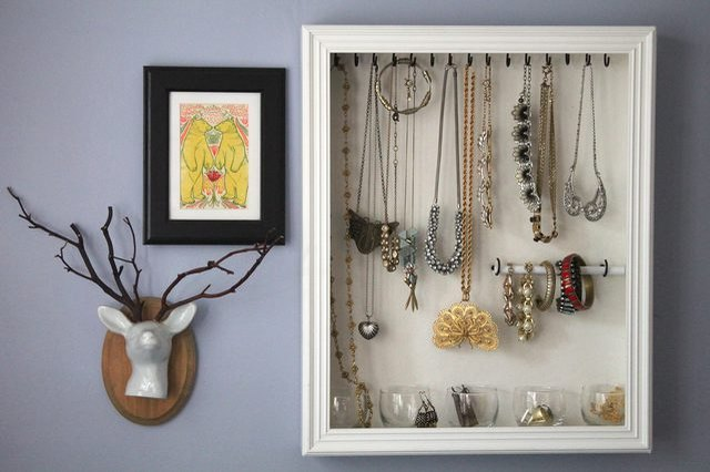 DIY Jewelry Shadow Box Organizer