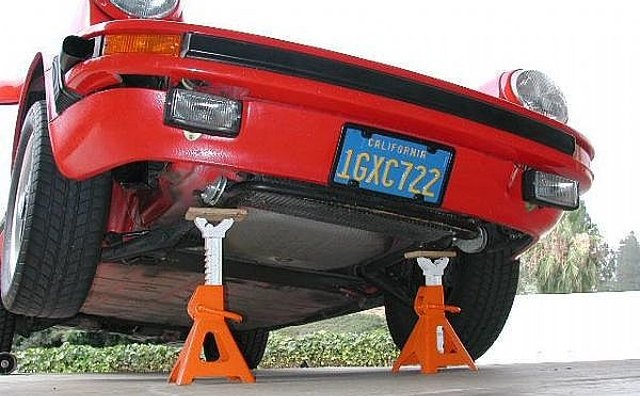 Be sure the Jack and the Jack stands are rated to support the weight of your vehicle