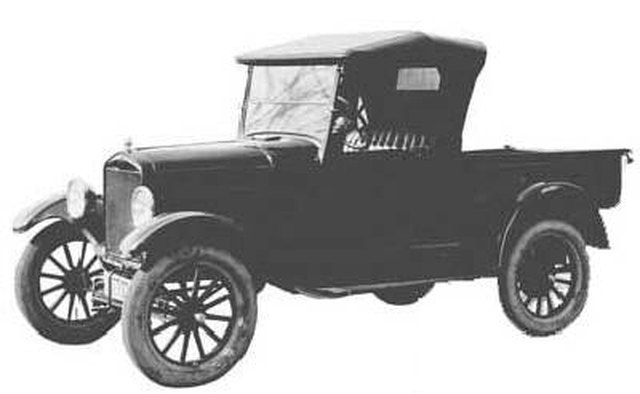 Ford Model T Runabout Pickup Truck The First