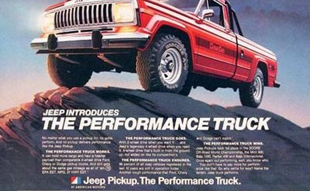 A 1981 ad for a Jeep Honcho.