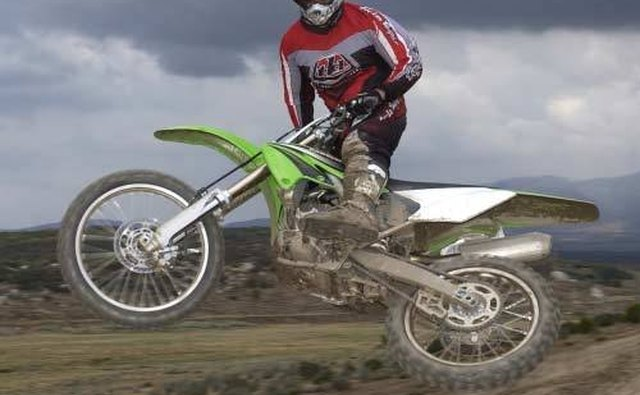 The Kawasaki KX250F.