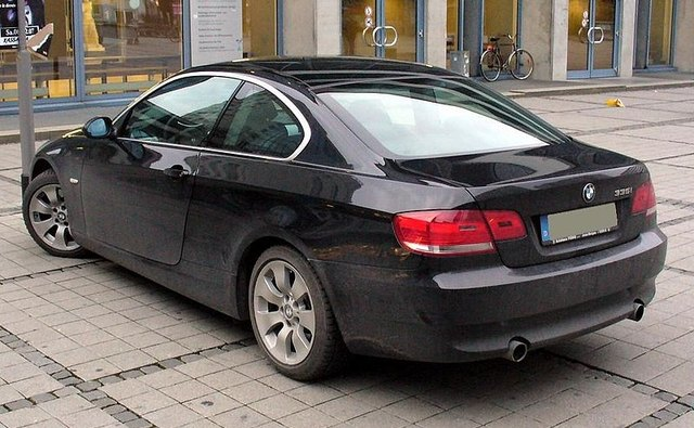 The BMw 335i coupe is equipped with a 3-liter twin-turbo engine.