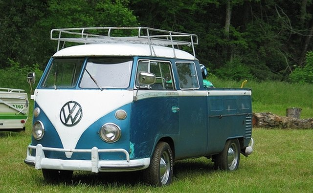 The vintage dual cab Volkswagen pickup.