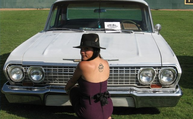 Part of the lowrider image is having a girlfriend to go with the car
