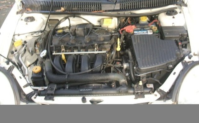 Dodge Neon SE engine bay.