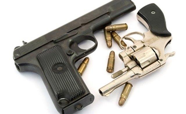 Concealable handguns.