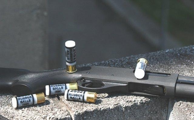 Long-barreled shotgun.