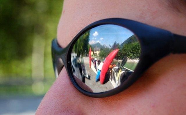 Mirrored sunglasses.