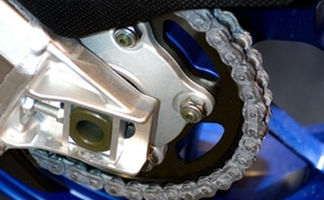 Motorcycles have much heavier chains than bicycles.