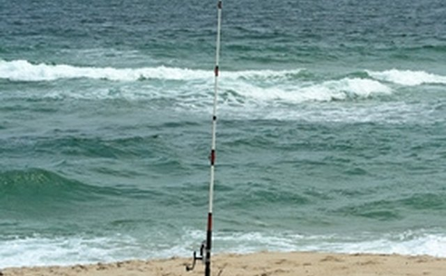 A sand spike will protect your reel from sand while you are breaking.