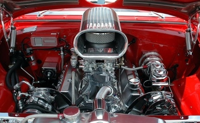 Motor oil is used for lubricating the parts of a car engine.