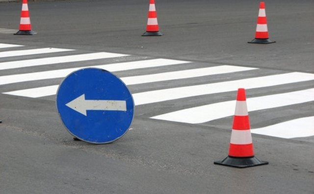 Setting up traffic cones is a good way to practice for aspects of a driving exam.