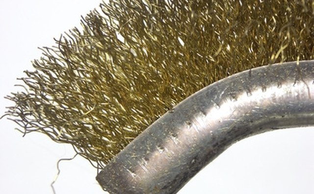 Wire brush for cleaning battery posts