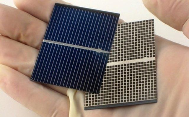 A solar charger must have the shiny side (left cell) exposed to light to generate electrical energy.