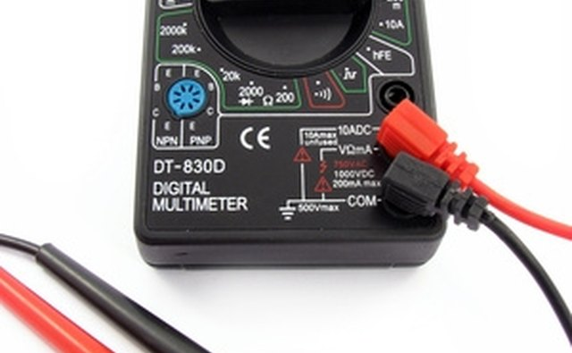 Use a digital voltmeter to measure the troubleshoot the electrical system.