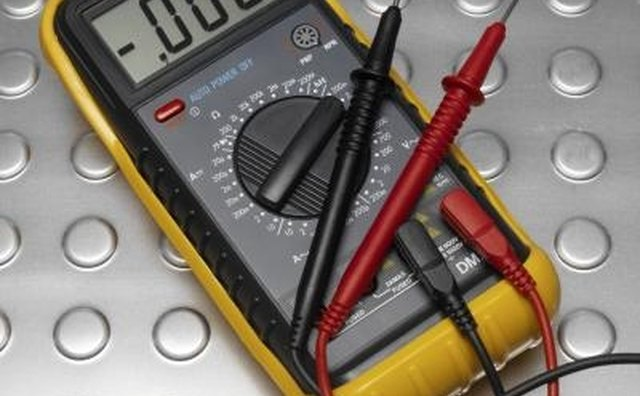 Place the volt meter probe directly onto the board-mounted component.