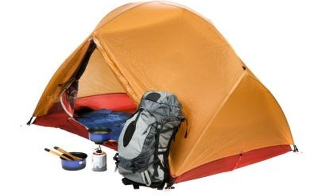 The rainfly goes over the body of the tent to keep the inside dry.