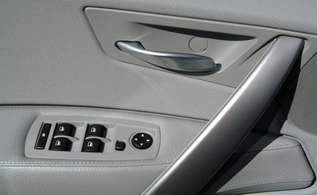 The hard plastic on this door panel is made from ABS plastic.