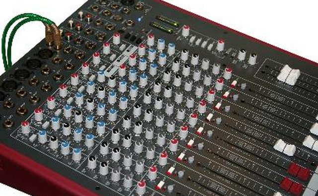 The DI will connect to the mixing console.
