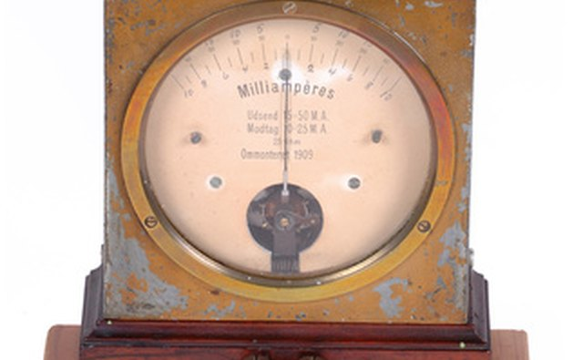Standalone antique ammeter.