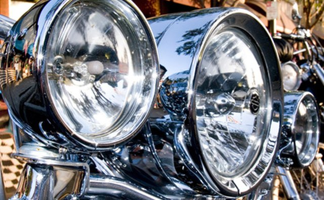 Chrome headlamps increase vision and visibility.