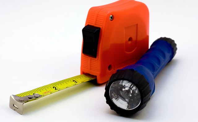 Use a tape measure to get the correct window treatment size.