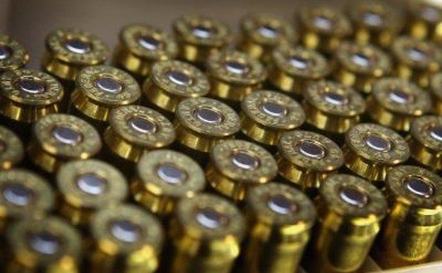 Box of .45 caliber ammunition