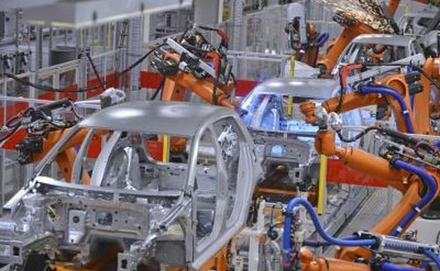 The car manufacturing process involves many steps.