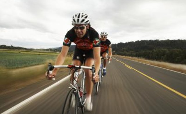 The faster you go, the more calories you have to burn to overcome air resistance.