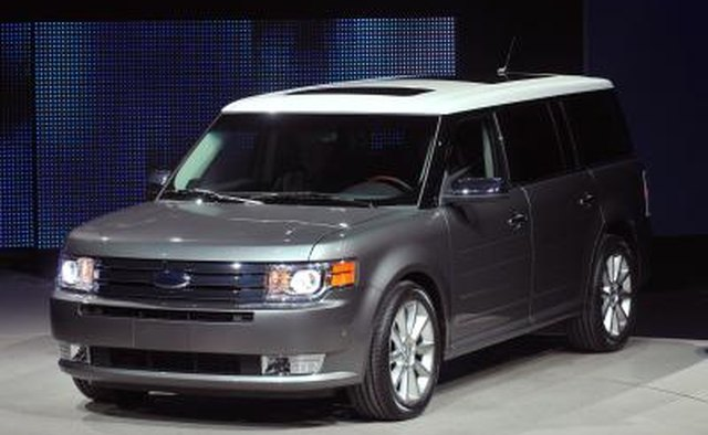 A Ford Flex on display