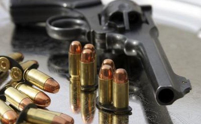 .45 caliber revolver and bullets