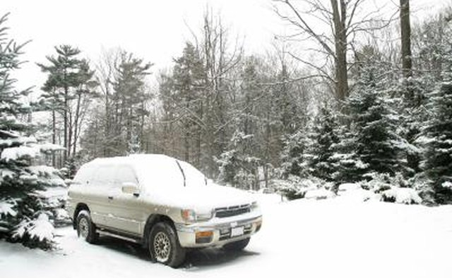 Pathfinder covered in snow