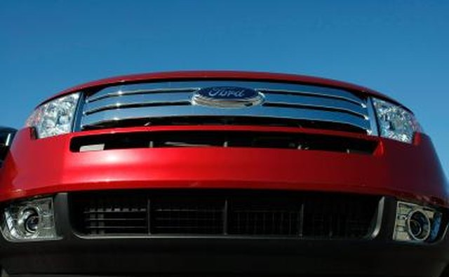 Front lower view of a Ford Flex Crossover vehicle