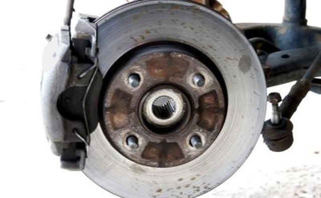 Car rim and pulley.