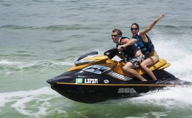 jet skiers at Virginia Key