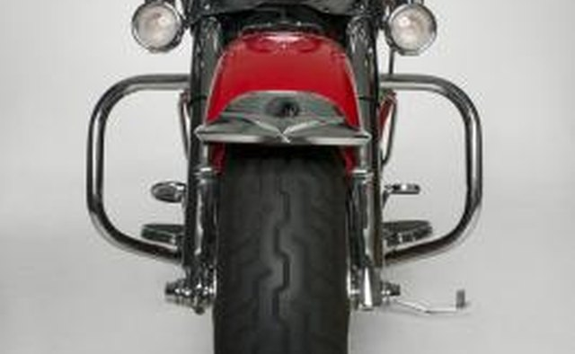 Front tire of a motorcycle