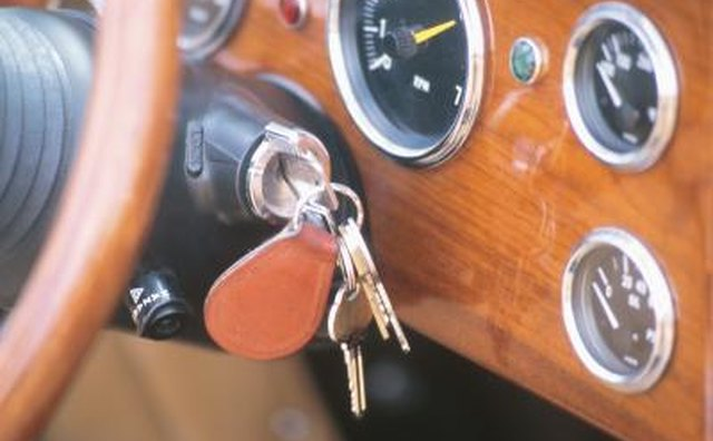 keys in ignition of car
