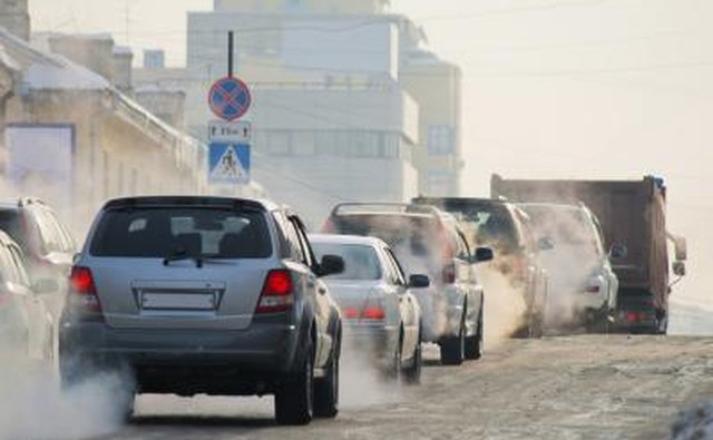 Car exhaust contains some dangerous chemicals.
