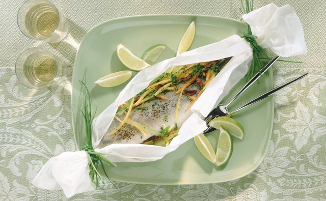 You may also oven-bake trout fillets in parchment.