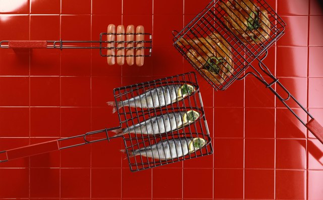 Grill baskets keep your fish from flaking apart on the grill.