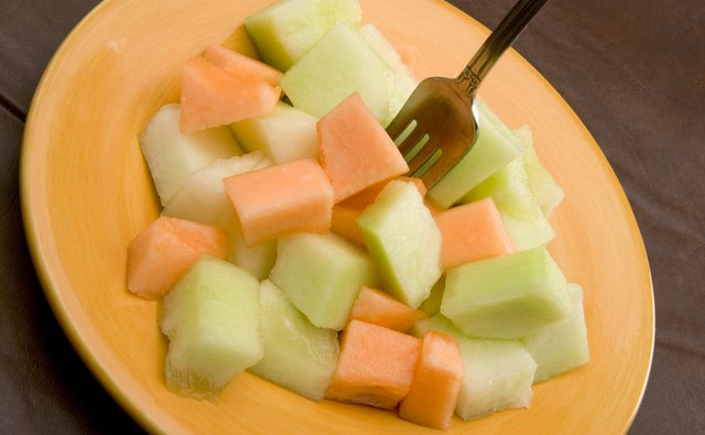 Combine honeydew and cantaloupe to make a delicious melon salad.