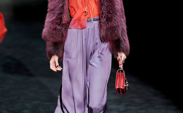 Switch to deeper shades of orange and purple in the autumn months.