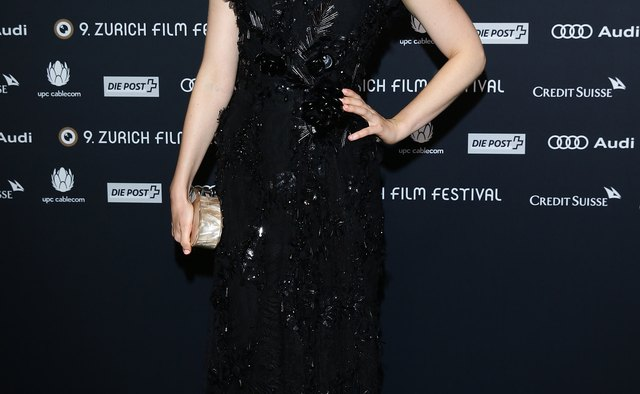 Celebrity Bella Heathcote wore a cocktail dress with a darling and eye-catching lace detail to the 2013 Zurich Film Festival in Switzerland.
