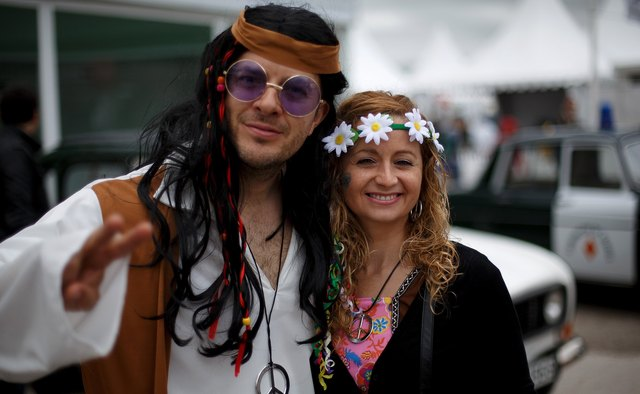 Conventional modes of dress were upended by the hippie movement.