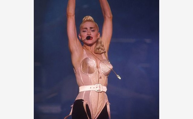 Madonna's iconic cone bra first made an appearance during her 1990 Blond Ambition Tour.