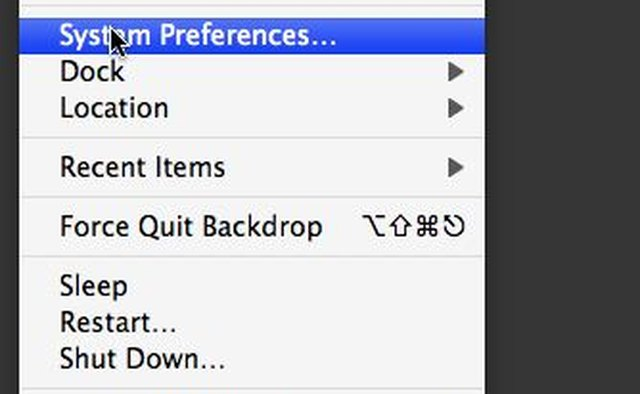 Launch System Preferences