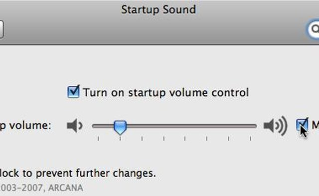 Startup Sound volume control and
