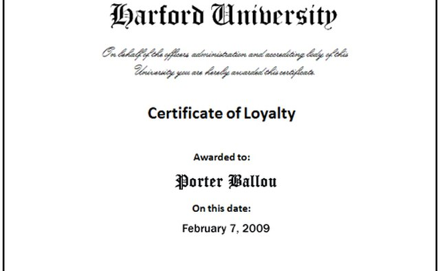 Image 5: completed certificate.
