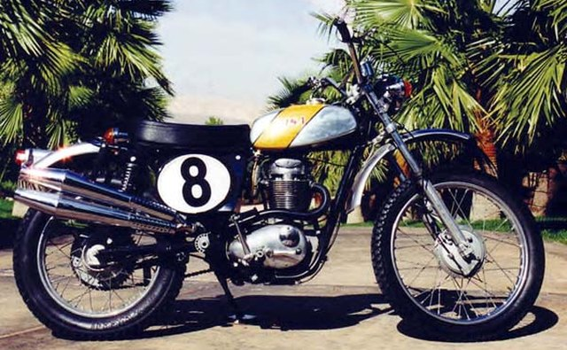 The father of the modern dirt bike: the BSA MX3.